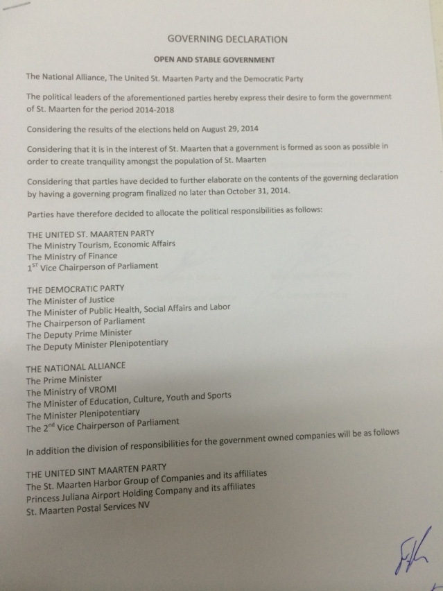 coalition agreement 1
