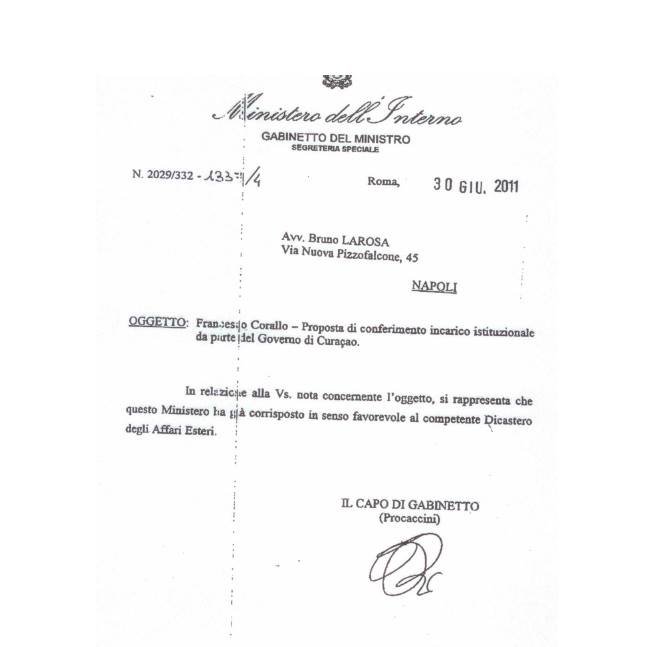Italian Government tears Francesco Corallo a new one