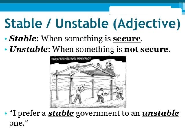 unstable sxm government