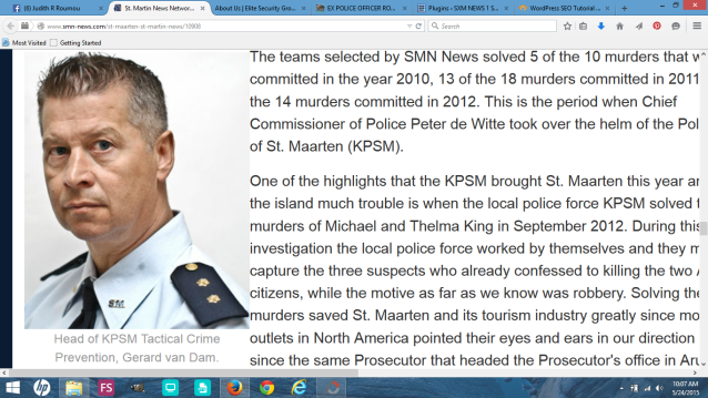 Officer Vandam's job is to cover up Chief of Police Peter de Witte's crime