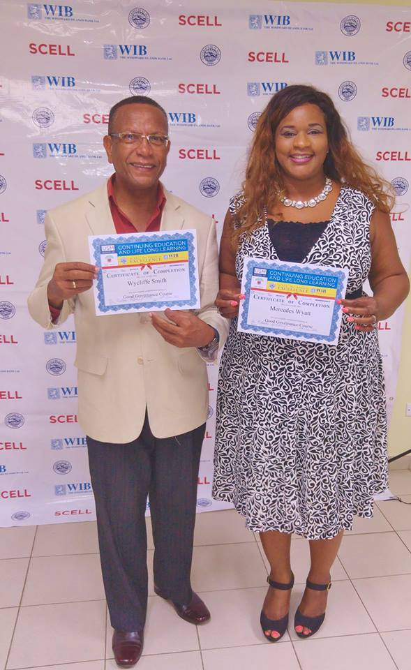 Mercedes Van der Waals-wyatt New Political Leaders graduated from SCELL's  Good Governance Course at USM St Maarten News