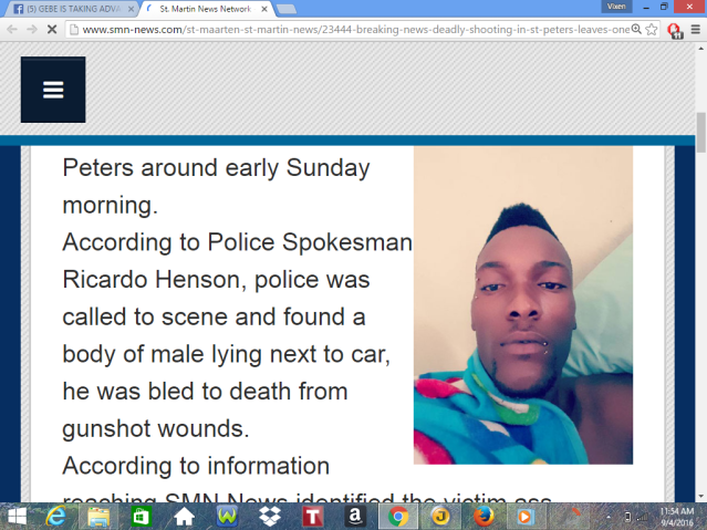 murders another shooting death st peters st maarten