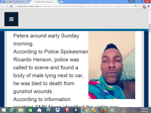 murders another shooting death st peters st maarten