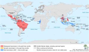 ECDC Map Zika Virus St Maarten