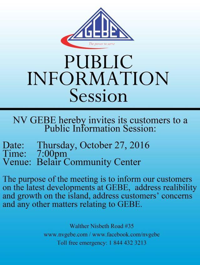 gebe nv st maarten public info session