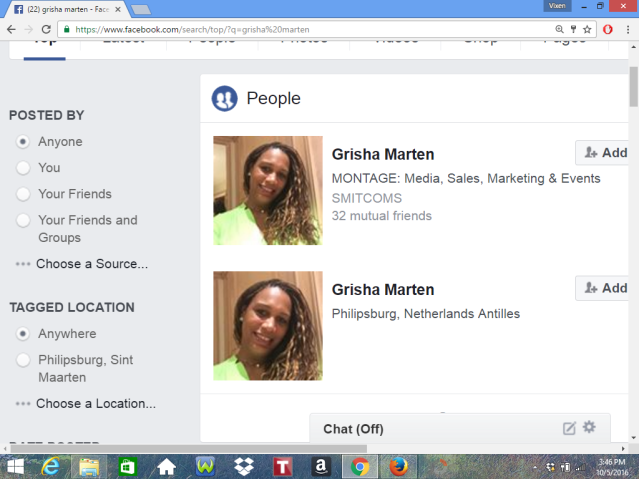 THERE IS A FAKE GRISHA MARTEN ON FACEBOOK SENDING MESSAGES AND FRIEND REQUESTS