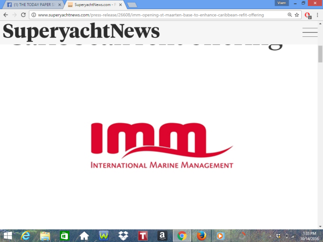 IMM Opening Caribbean Base In St Maarten Press Release