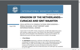 68 PAGE PDF IMF STAFF REPORT CENTRAL BANK ST MAARTEN CURACAO