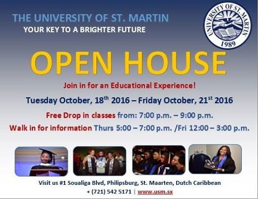 University Of St Maarten Invites You To Open House