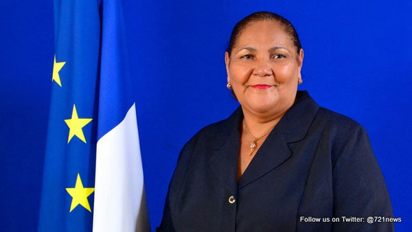 BREAKING NEWS Former President Aline Hanson passed away at her home Relatives confirmed French St Martin