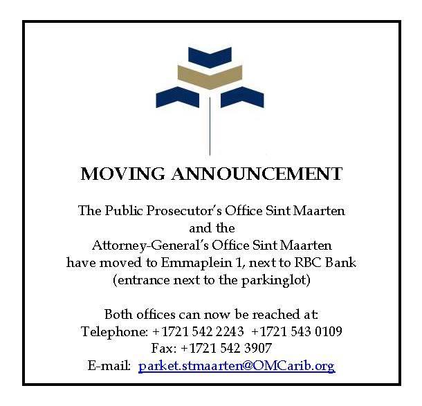 Public Prosecutor Sxm Openbaar Ministerie Sint Maarten Changes Location