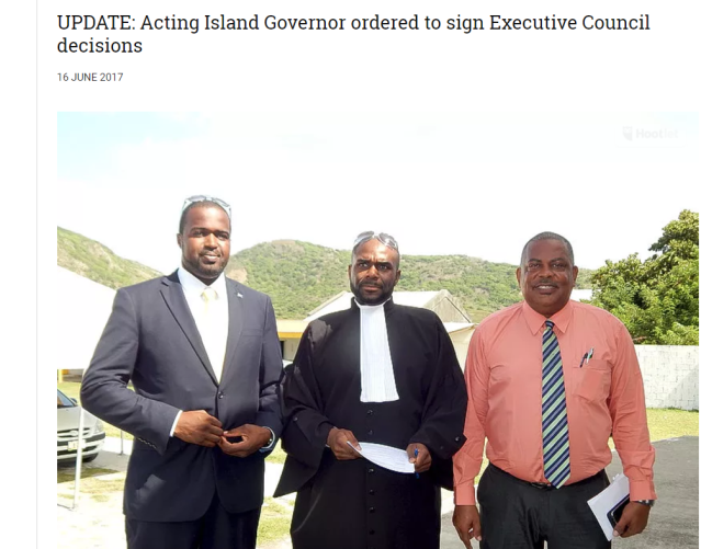 UPDATE Acting Island Governor ordered to sign Executive Council decisions g