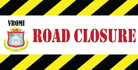 Vromi temporarily interruption traffic junction The Keys Road and Chin Cactus Road St Maarten