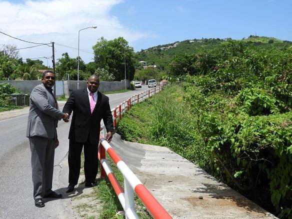 Railings on A TH Illidge Road St Maarten