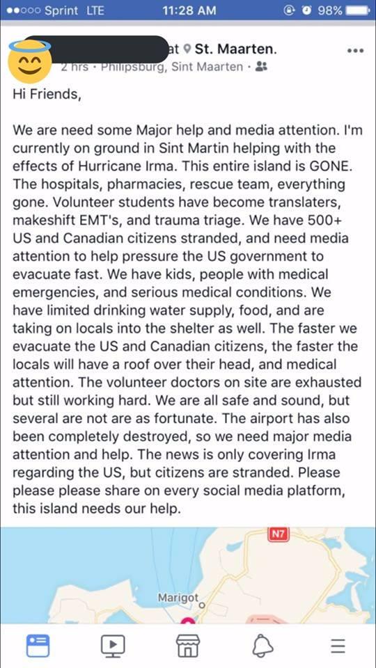 Emergency Request From St Martin Sint Maarten