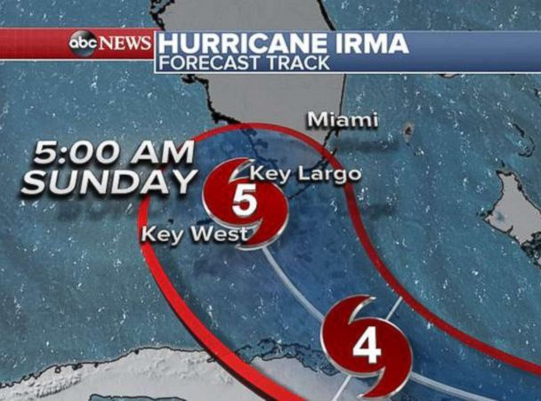 Florida-bound Hurricane Irma strengthens back into a Category 5 as it makes landfall in Cuba