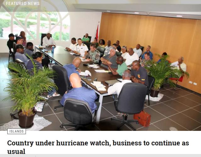 Sxm Government Organizes Preparations Hurricane Irma Caribbean Atlantic 2017