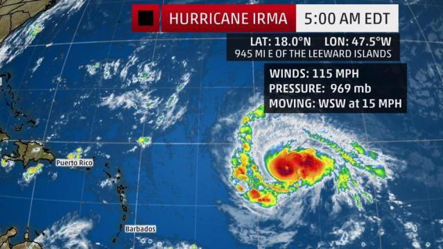 hurricaqne irma category 4 cbs