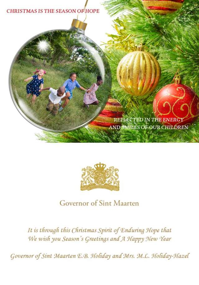 Governor Extends Holiday Greetings To St Maarteners